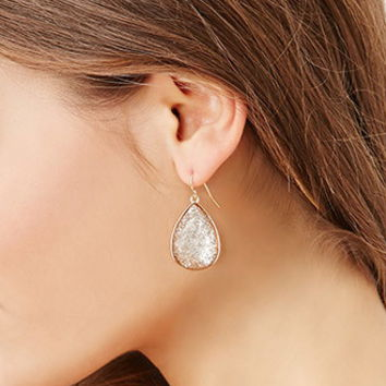 Glitter Teardrop Drop Earrings