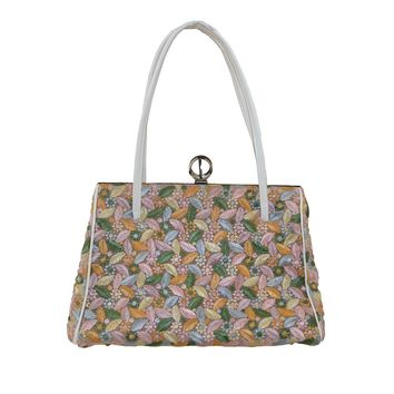 1960s Pastel Floral Structured Handbag
