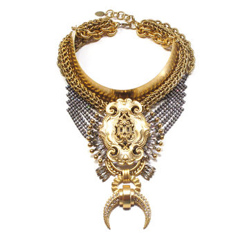 Freeland Necklace, Golden Crystal