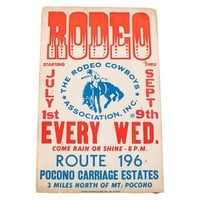Mid Century Rodeo Poster