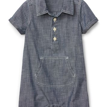 Shorty One-Piece in Chambray|gap