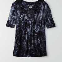 AEO SOFT & SEXY LACE-UP T-SHIRT