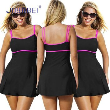 JUYABEI Two Pieces Swimsuit Women Plus Size M-5XL Swimwear Tankini Black Large Size Bikinis Ladies Summer Big Size Bathing Suit
