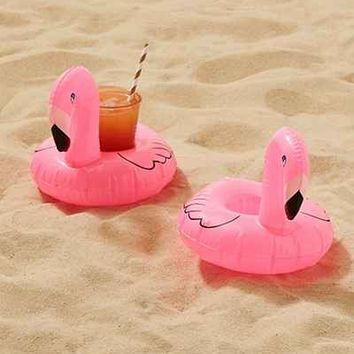 Flamingo Drink Holder Pool Float Set - Urban Outfitters