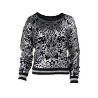 Minkpink Womens Knit Metallic Pullover Sweater