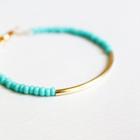 mint gold bar bracelet
