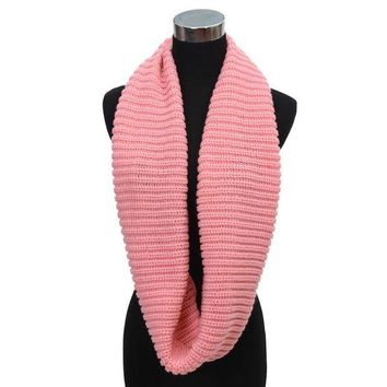 VOND4H Warm Cable Knit  Neck Long Scarf