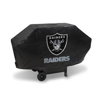 OAKLAND RAIDERS DELUXE GRILL COVER-(Black Background)