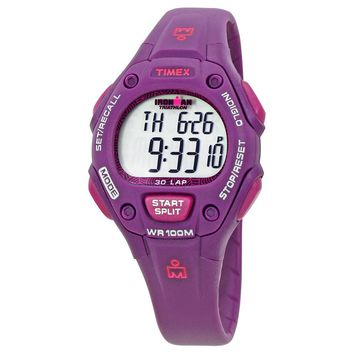 Timex Ironman Triathlon Digital Purple Resin Ladies Watch T5K756