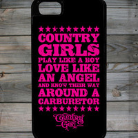 Country Girl ® Carburetor iPhone 5 Case/Cover