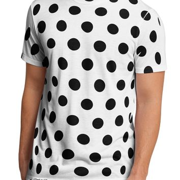 Black Polka Dots on White Men's Sub Tee Single Side All Over Print by TooLoud