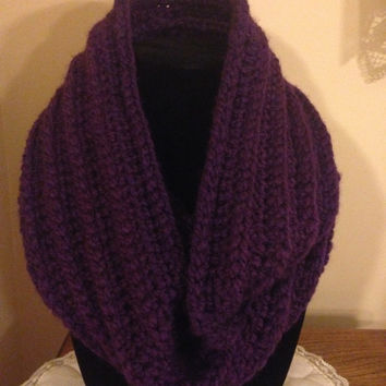 Warm & Comfy Ribbed Crochet Infinity Scarf