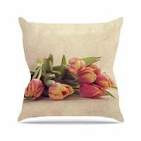"""Angie Turner """"Delicate Spring"""" Yellow Photography Throw Pillow"""