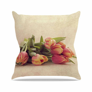 "Angie Turner ""Delicate Spring"" Yellow Photography Throw Pillow"