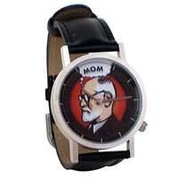 Freudian Thoughts Sigmund Freud Psychology Unisex Analog Water Resistant Novelty Gift Watch