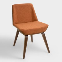Orange Mid Century Joel Upholstered Dining Chair
