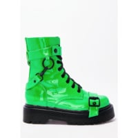 Slime Green Combat Boots PREORDER