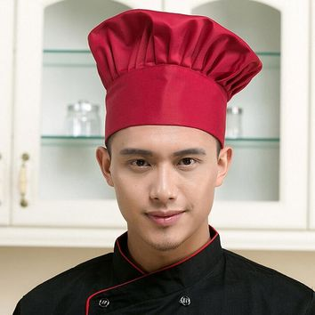 Cooking Cafe Restaurant Working Cap Working Cap Chef Hat Cloth Plaid Striped Plain Hat