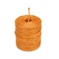 Burlap Jute Twine Rope, 3-Ply, 3mm, 75 Yards, Orange