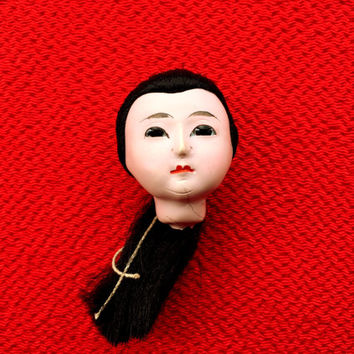 Japanese Doll Head - Vintage Doll Head -  Girl Doll Head - Small Doll Head - Woman Doll Head  No.4 Small Size