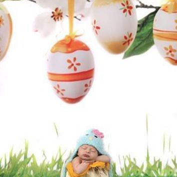EASTER HANGING EGGS VINYL BACKDROP - 3X4 - LCBD2709 - LAST CALL
