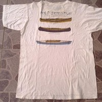 RARE Vintage Polo Expedtion by Ralph Lauren indian canoe kayak boat pocket t shirt
