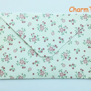 Paper envelopes with flower print pack of 10 (15.2x10.2 cm) style9