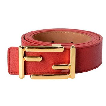 ONETOW Fendi Leather Red Women's Belt Tagre?
