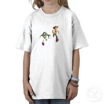 Toy Story Buzz Lightyear Woody running T Shirts from Zazzle.com