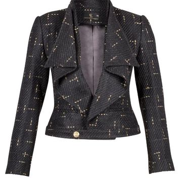 Waterfall Jacket in Black and Gold