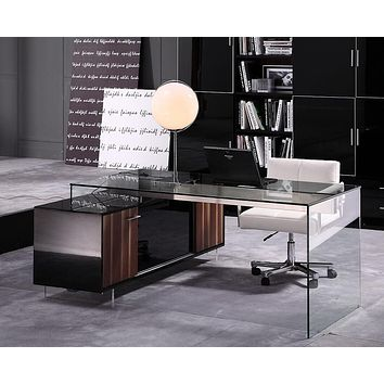 Modrest Alaska Modern Glass Office Desk