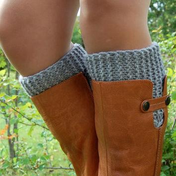 Hand knit Boot Cuffs,Knitted Boot Cuffs,  Boot Socks, Wool Boot Cuffs,Womens Boot Cuffs, Leg warmer, Womens Boots Socks