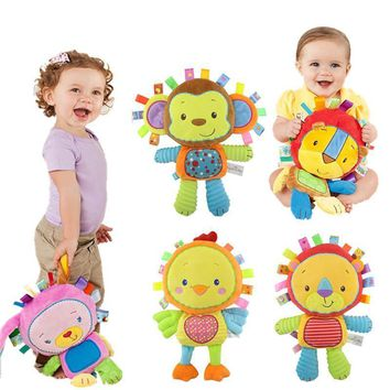 0-12 Months Kids Baby Cute Plush Rattle Stuffed Animal Infant Educational Learning Toys Gift for Toddler Children
