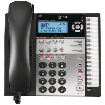 Att 4-line Speakerphone With Answering System Caller Id & Audio Attendant