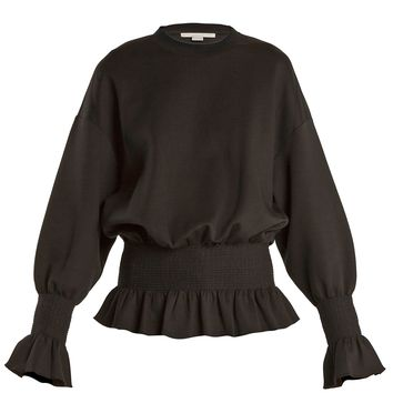 Ruffle-trimmed cotton-blend sweatshirt | Stella McCartney | MATCHESFASHION.COM UK