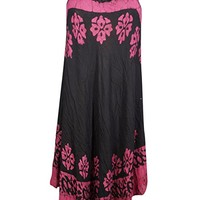 Mogul Interior Womens Tank Dress Cover up Embroidered Cutout Neck Loose Flare Sundress