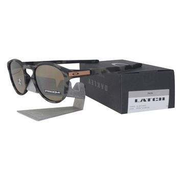 Oakley OO 9265-3153 LATCH Olive Camo Frame PRIZM Tungsten Lens Mens Sunglasses .