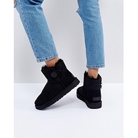 UGG Mini Bailey Button II Black Boots