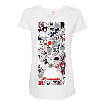 girls fashion Maternity Scoop Neck T-shirt