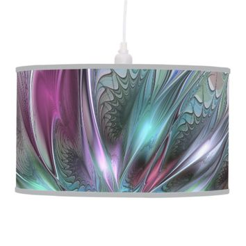 Colorful Fantasy Abstract Modern Fractal Flower Hanging Lamp
