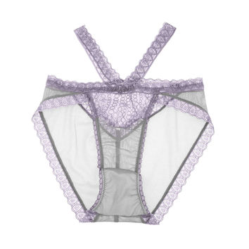 Natalie Strappy Demi High Waist Panty in Lavender Quartz 💜Ships Next Day (S)💜