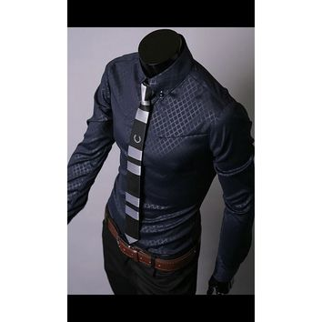 Mens Casual Fit Button Up Shirt