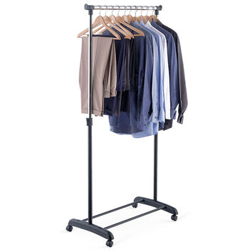 Ultra Capacity Adjustable Garment Rack, Storage Baskets