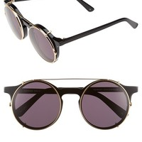 Women's SUNDAY SOMEWHERE 'Matahari' 50mm Detachable Round Sunglasses