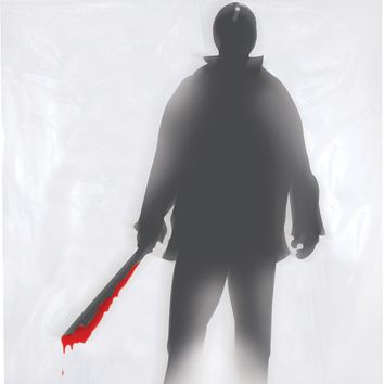 halloween prop: shower curtain machete killer