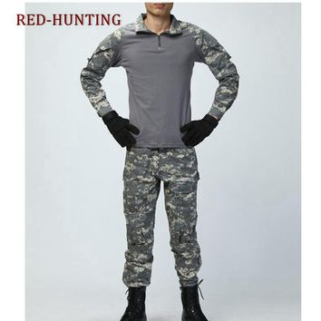 US Army G3 Combat Uniform Shirt & Pants with Knee Pads Military Airsoft Hunting Apparel Gen3 Multicam Camo BDU