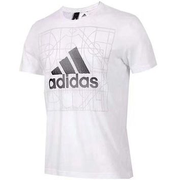DCCKR2 ADIDAS counter summer new sports leisure breathable T-shirt F-ADD-MRY white