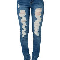 Destroyed Skinny Jean