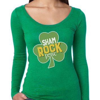Women's Shirt Shamrock Fest St Patrick's Day Party Shirt