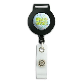 Congrats Graduate Congratulations Graduation Retractable Badge Card ID Holder